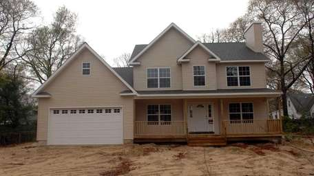 New construction at 27 Inwood Ave. in Selden.