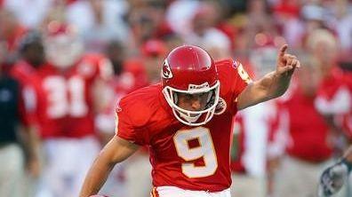 Nick Novak of the Kansas City Chiefs kicks