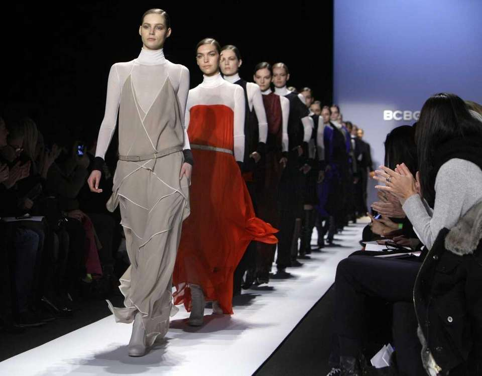 Models walk in the finale of the fall