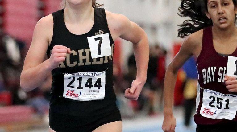Sachem North's Molly Ramirez wins the 1,500-meter run