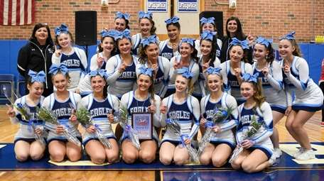 Rocky Point cheerleaders win the Medium School Division