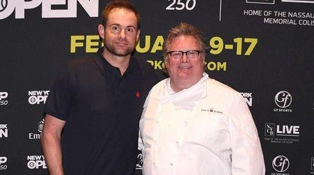 Tennis champion Andy Roddick and Chef David Burke