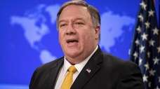 Secretary of State Mike Pompeo announces the U.S.