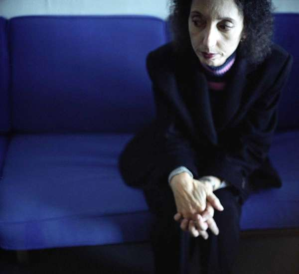 Award-winning author Joyce Carol Oates poses in her