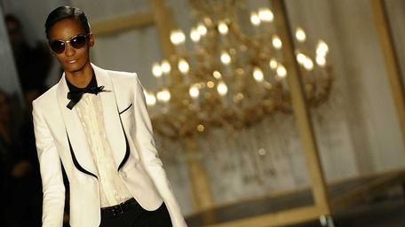 A model displays the fashion of Jason Wu.