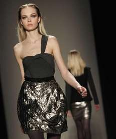 The Nicole Miller fall 2011 collection is modeled