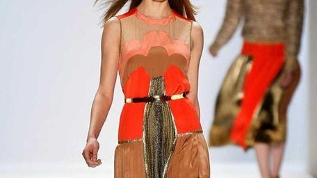 NEW YORK, NY - FEBRUARY 12: A model