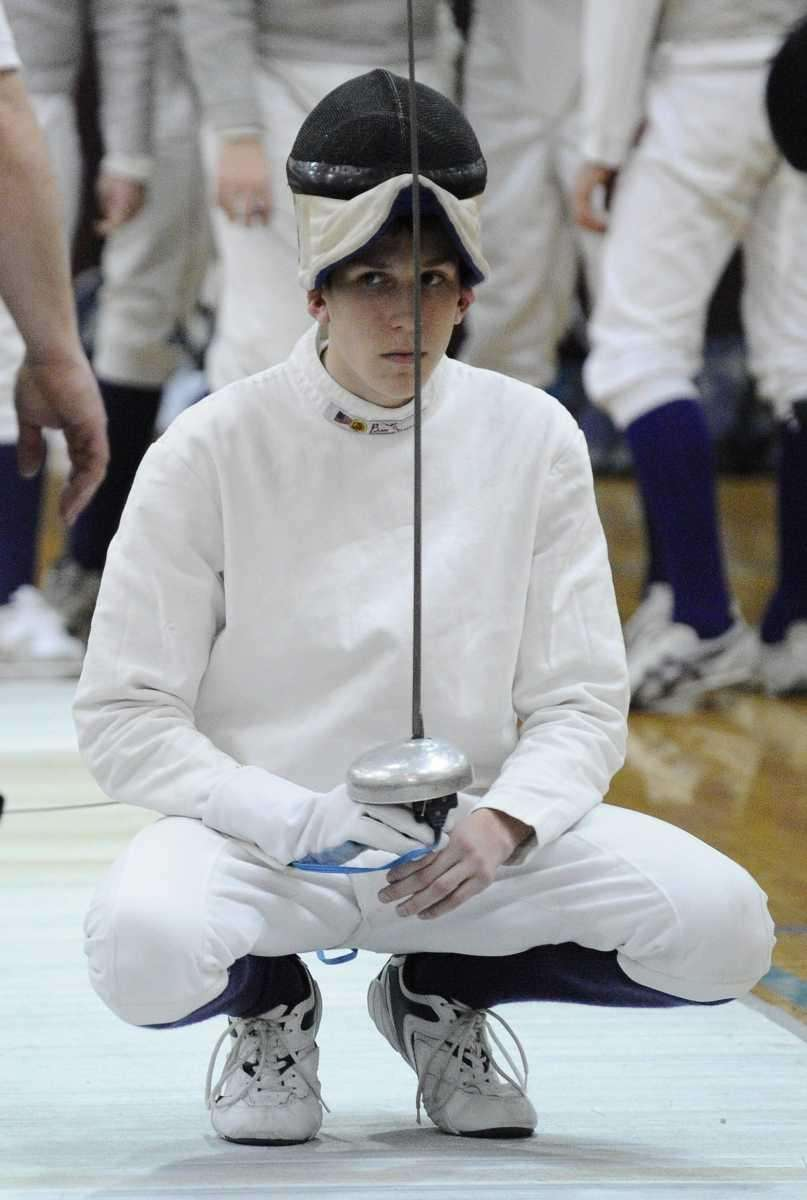 Oyster Bay's Andrew Stefano prepares for his epee