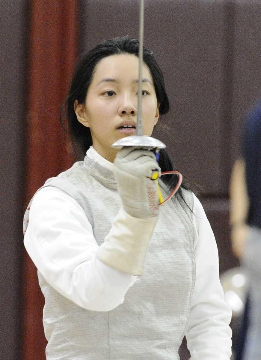 Great Neck South's Roslyn Jin won her foil