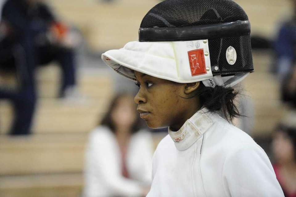 Great Neck South's Isabelle Thenor-Louis won her epee
