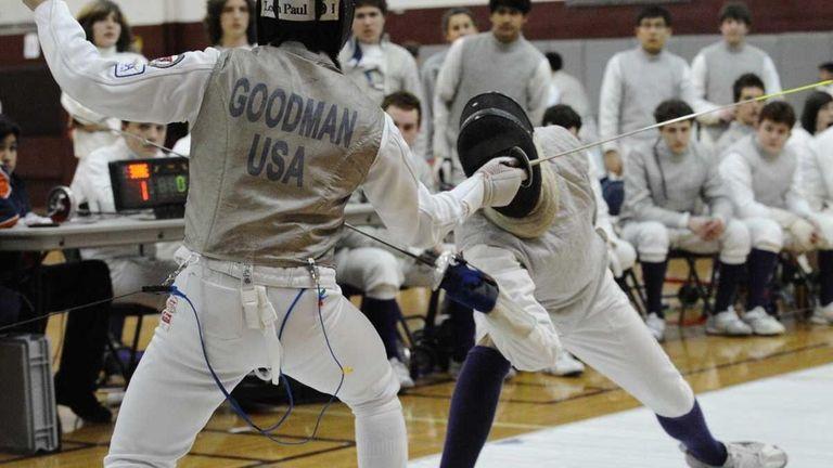 Great Neck South's Zach Goodman won his foil