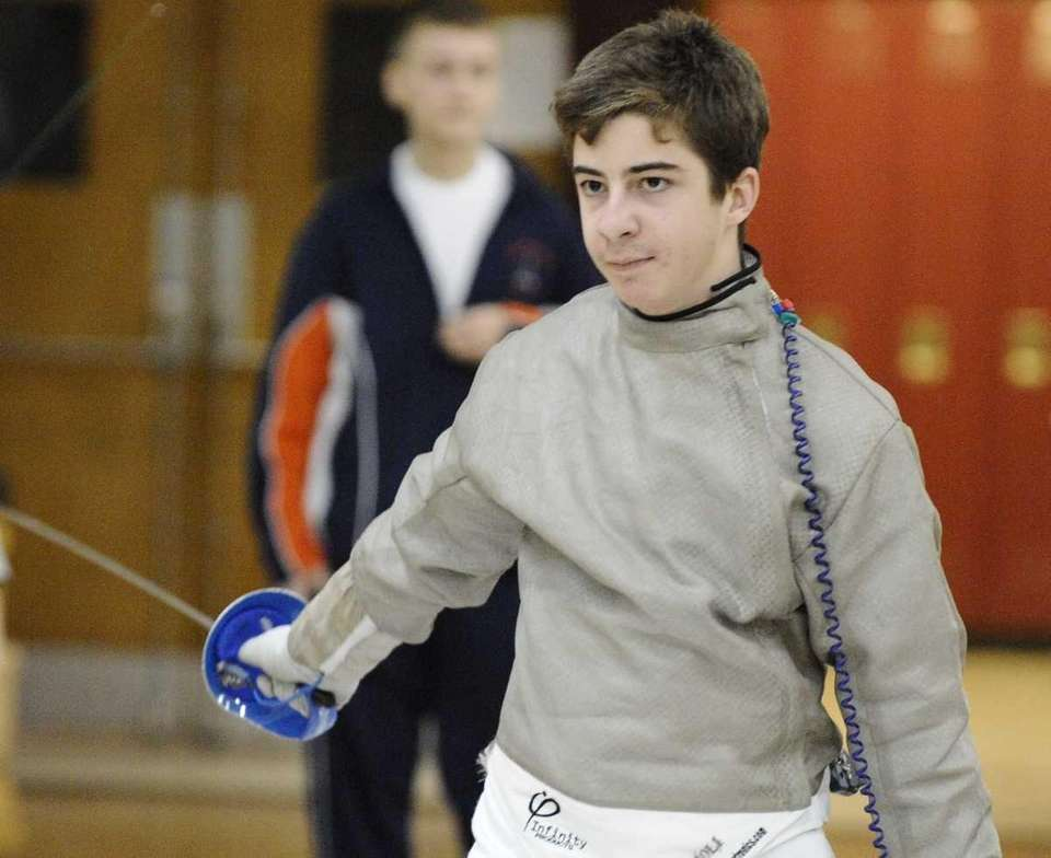 Great Neck South's Alex Smith won his sabre