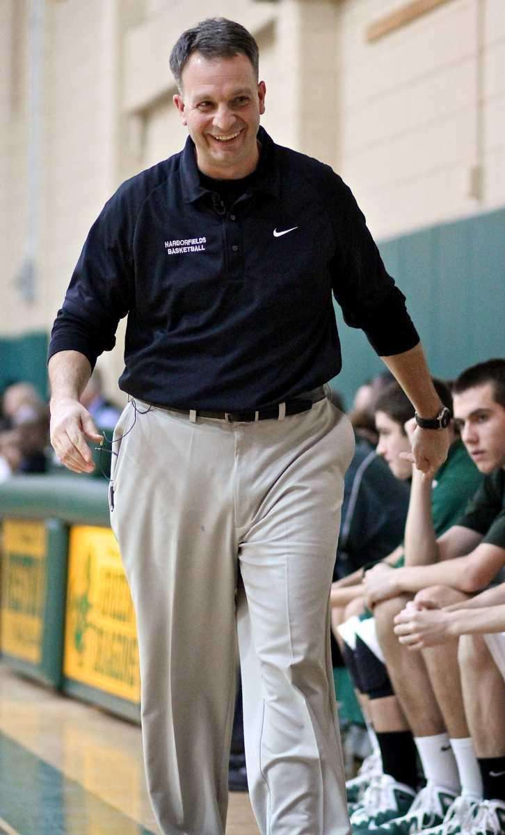 Harborfields head coach Chris Agostino. (Feb. 12, 2011)