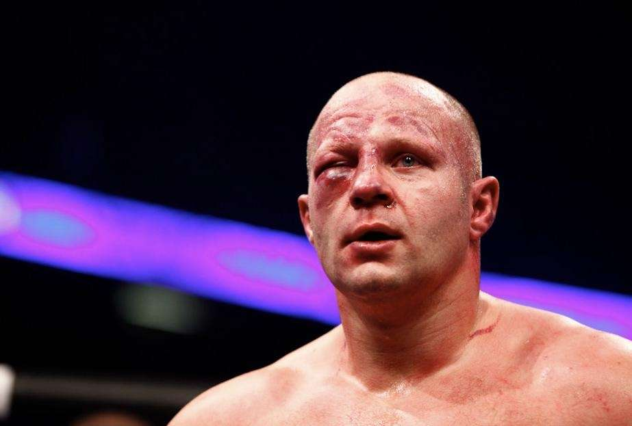 That swelling underneath Fedor Emelianenko's right eye caused