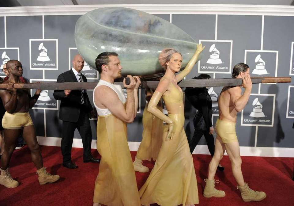 Lady Gaga arrives at the 53rd annual Grammy