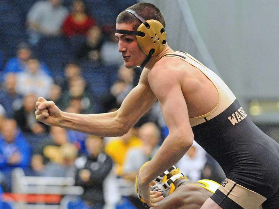 Danny McDevitt of Wantagh reacts after defeating Uniondale's