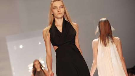 The Derek Lam fall 2011 collection is modeled