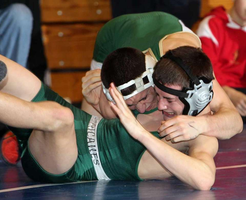 Longwood's Casey Brice tries to put Westhampton's Ronan