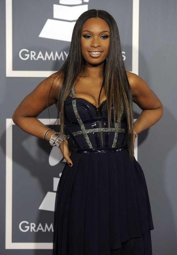Jennifer Hudson arrives at the 53rd annual Grammy