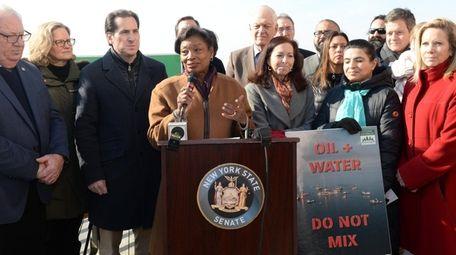 New York State Senate Majority Leader Andrea Stewart-Cousins,