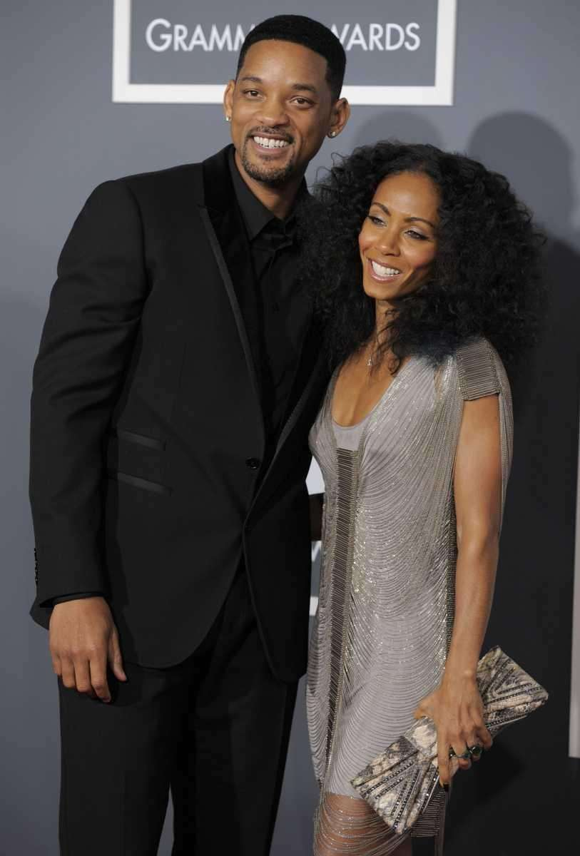 Will Smith, left, and Jada Pinkett Smith arrive