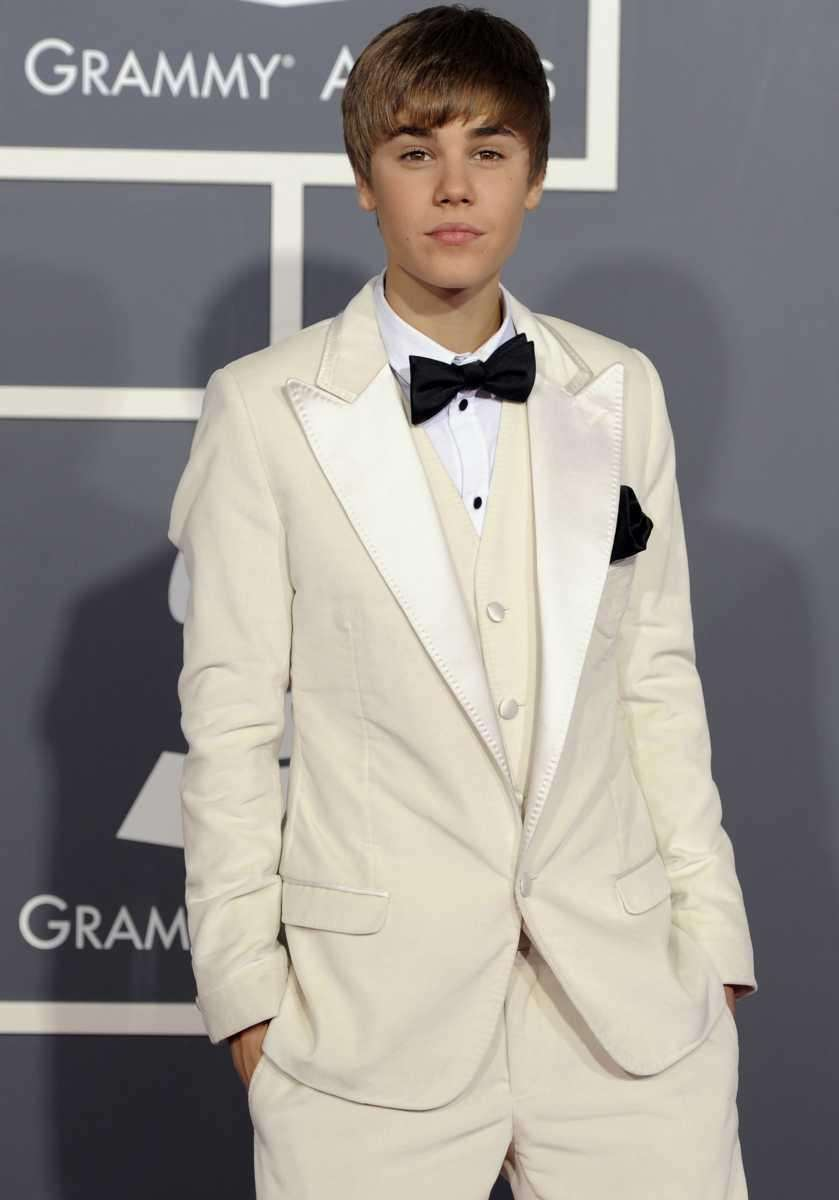 Justin Bieber arrives at the 53rd annual Grammy