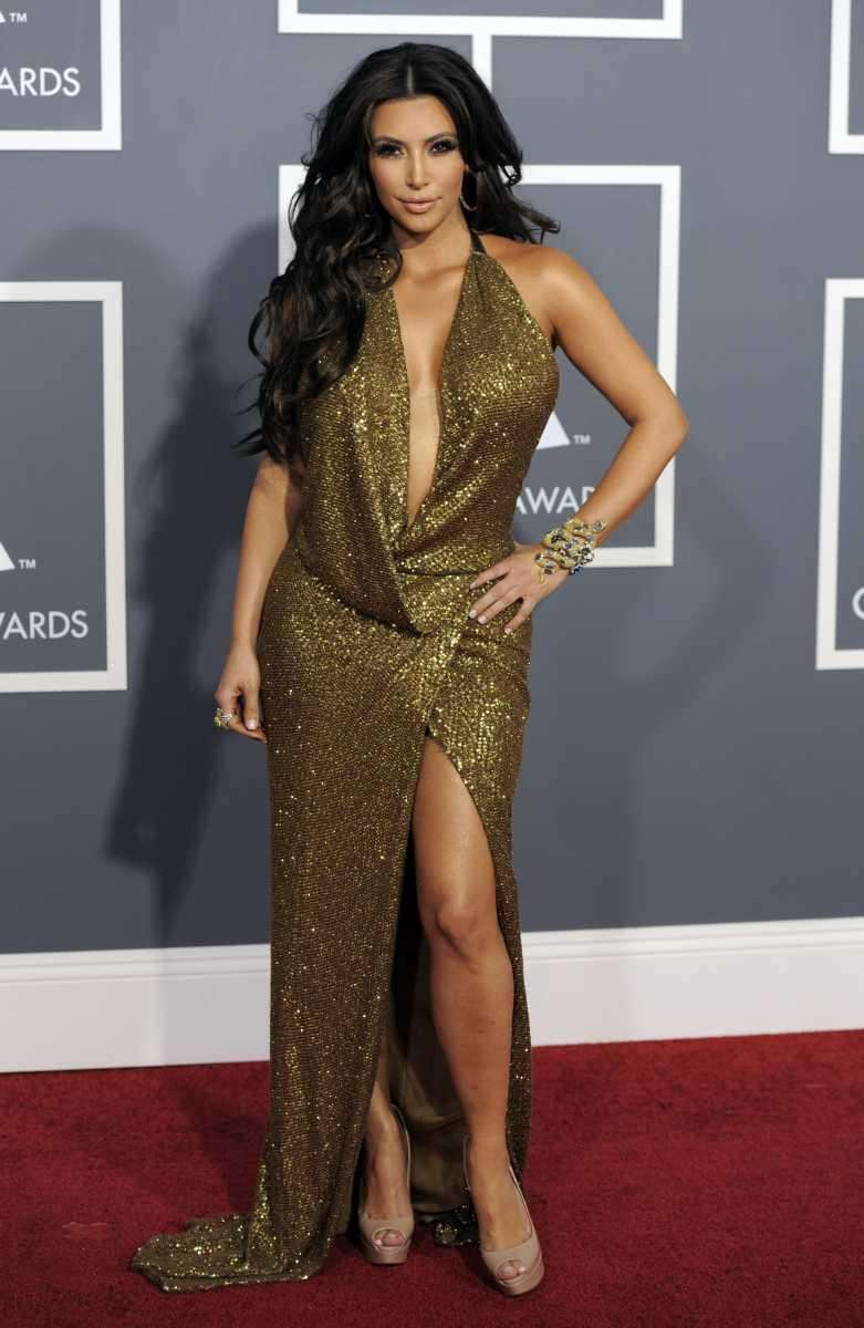 Kim Kardashian arrives at the 53rd annual Grammy
