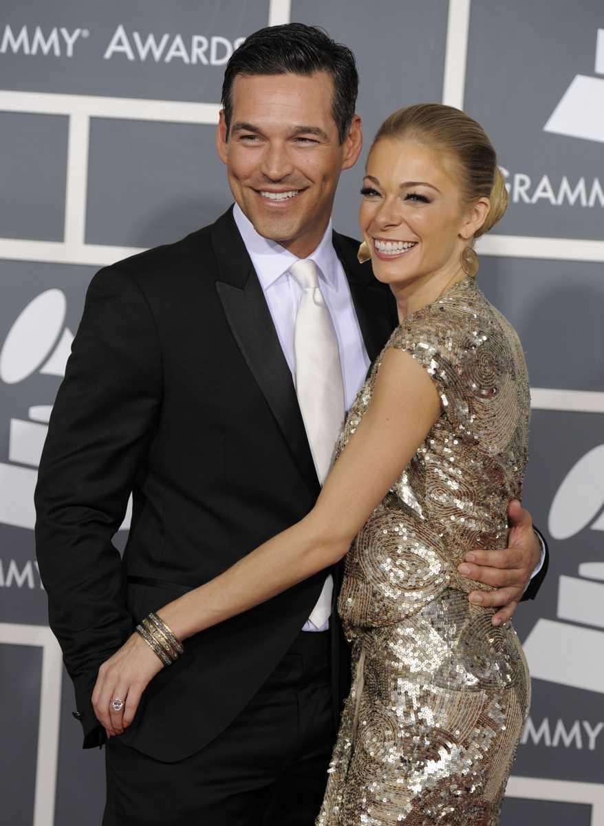 Eddie Cibrian, left, and LeAnn Rimes arrive at