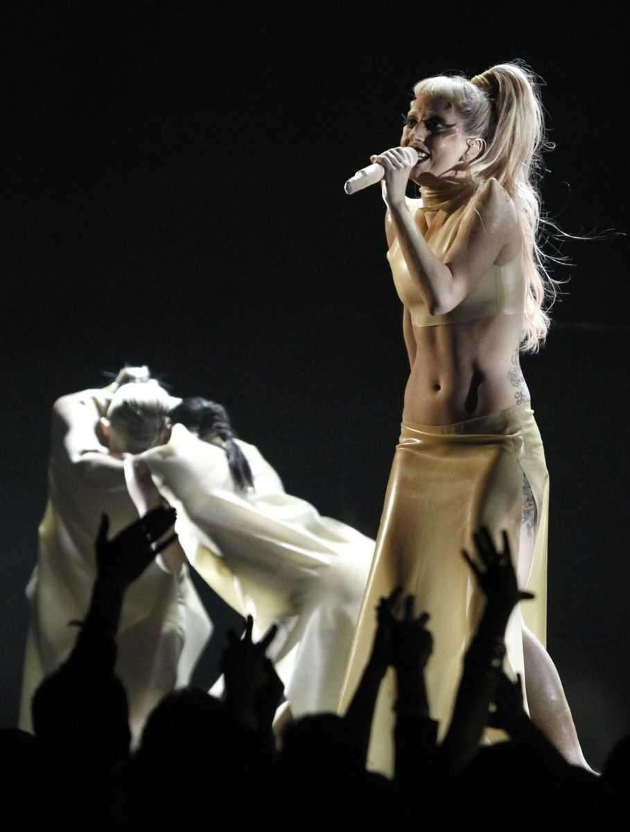 Lady Gaga performs at the 53rd annual Grammy