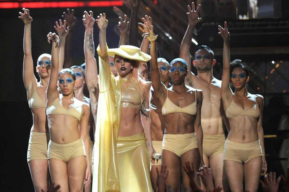 Singer Lady Gaga performs onstage during The 53rd