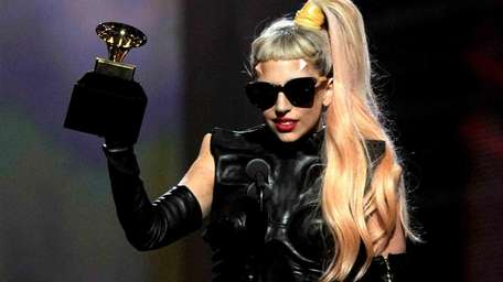 Singer Lady Gaga accepts the Best Pop Vocal