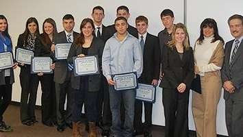 Bellmore students who placed in a business plan