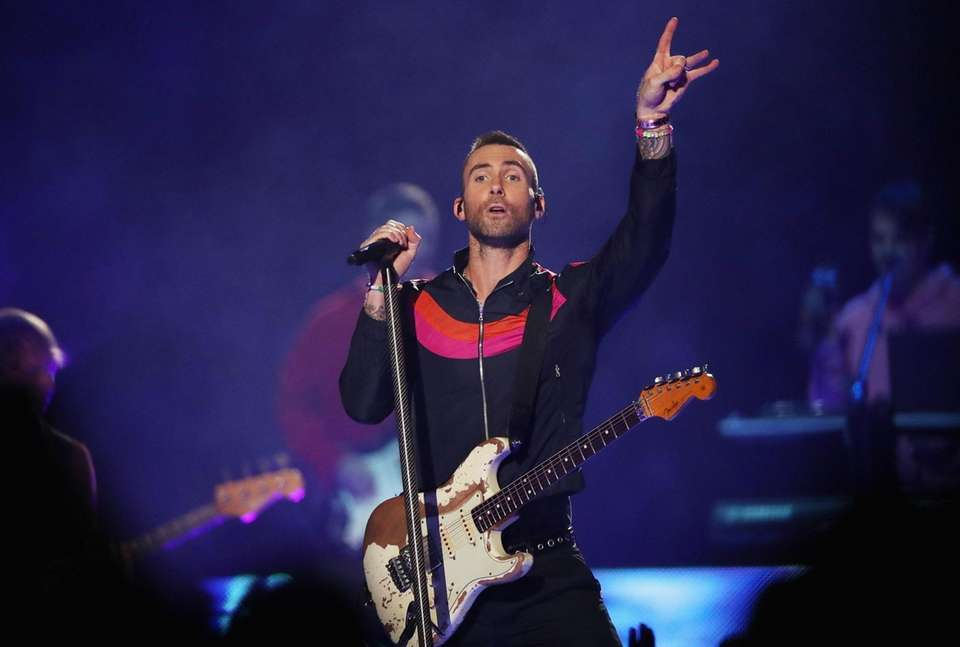 ATLANTA, GA - FEBRUARY 03: Adam Levine and