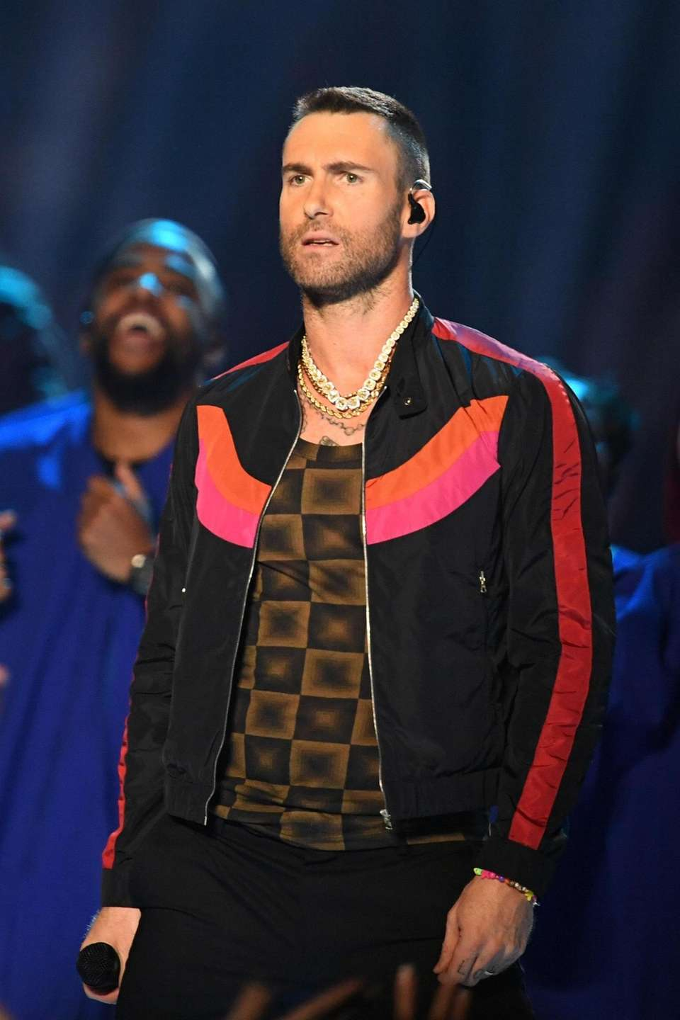 ATLANTA, GA - FEBRUARY 03: Adam Levine of