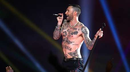 ATLANTA, GEORGIA - FEBRUARY 03: Adam Levine of