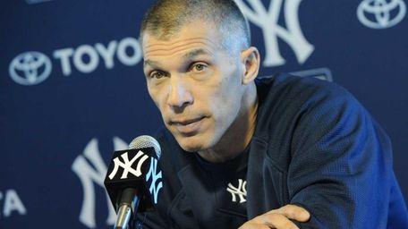 Yankees Manager Joe Girardi addresses the media on