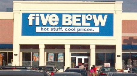 The Five Below store in Westbury.