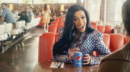 Cardi B appears in a Pepsi Super Bowl