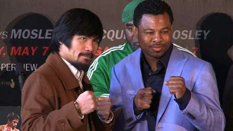 Manny Pacquiao and Shane Mosley promote their upcoming