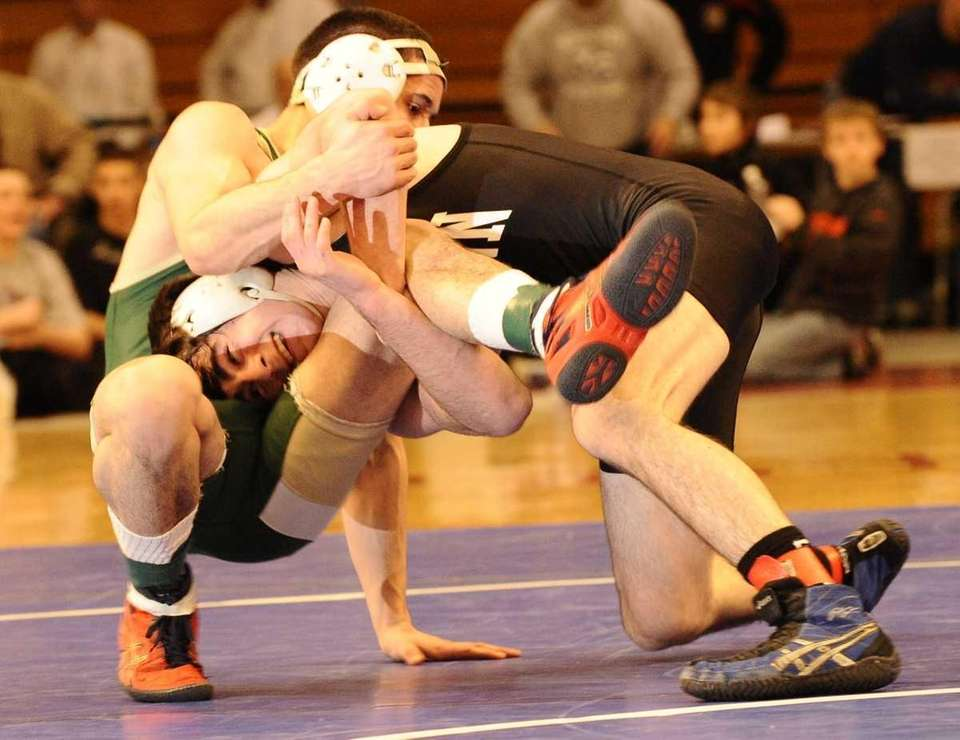 Glenn's James Dekrone, right, defeated Longwood's Casey Brice,