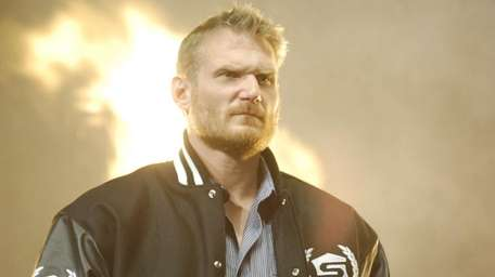 Josh Barnett is introduced to the crowd at