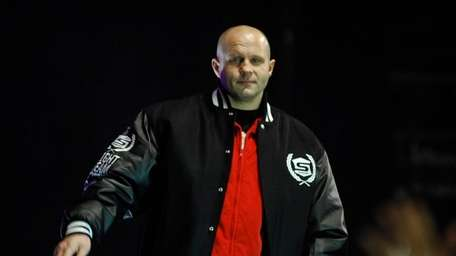 Fedor Emelianenko is introduced to the crowd at