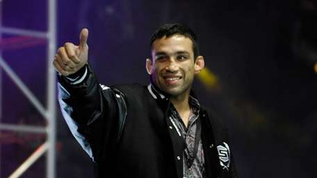 Fabricio Werdum is introduced to the crowd at
