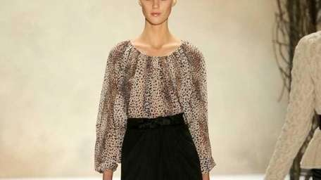 NEW YORK, NY - FEBRUARY 14: A model