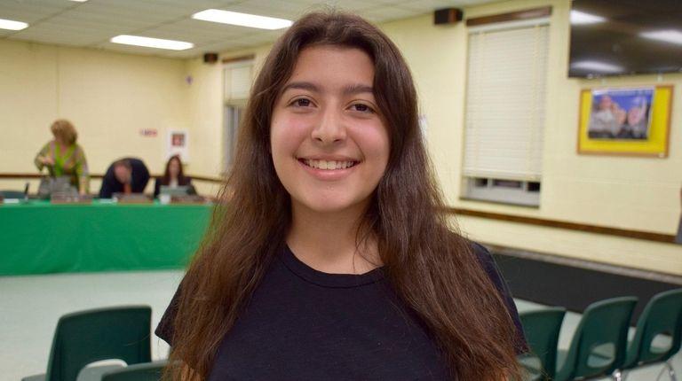 Kaylie Hausknecht, a senior at Lynbrook High School,