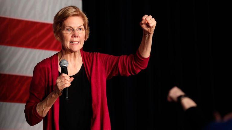 U.S. Sen. Elizabeth Warren, D-Mass., speaks during an