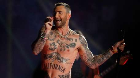 Maroon 5 frontman Adam Levine performs during the