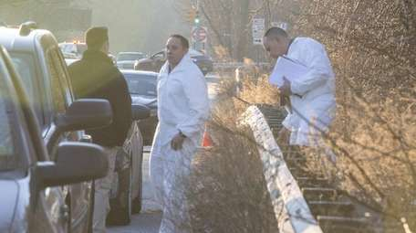 State Police on Monday investigate the scene where