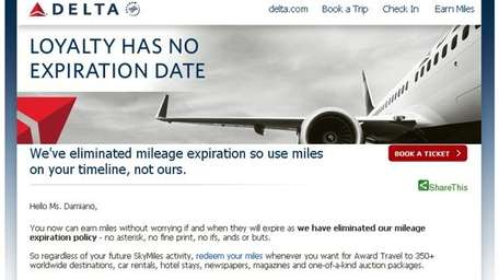 Delta has announced SkyMiles will no longer expire