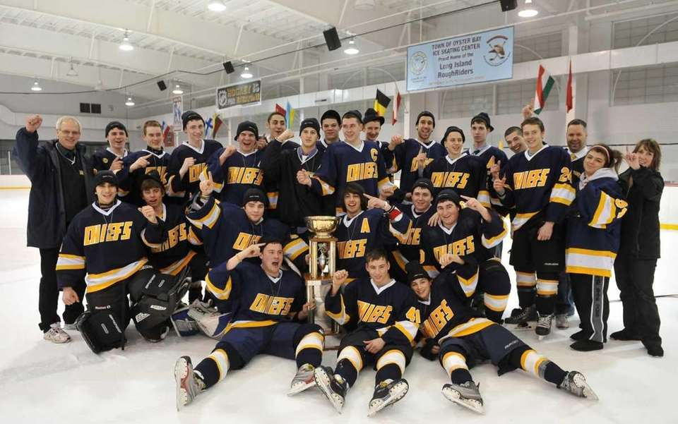 Massapequa players pose for a team photo after